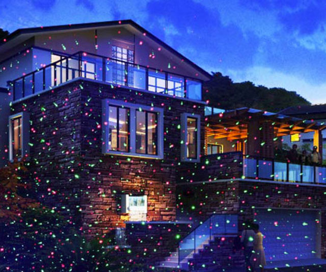 Christmas Vacation House Lights.Holiday Laser Led Firefly Lights