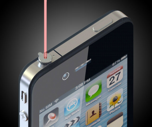 iphone laser pointer ipin laser pointer for iphone dudeiwantthat 11980