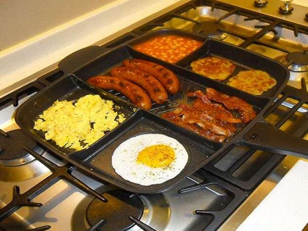 MasterPan Multi-Sectional Meal Skillet | DudeIWantThat.com