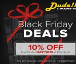 Dude Exclusives Black Friday 10% Off