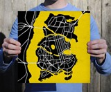 Batman Gotham City Map Print
