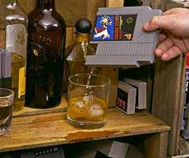Nintendo Game Cartridge Flasks