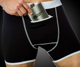 Speakeasy Briefs & Flask