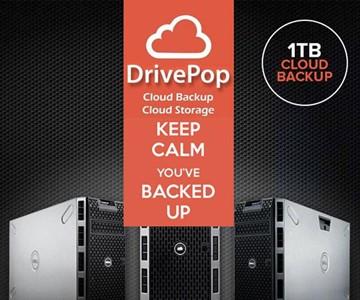 1 TB of DrivePop Cloud Backup