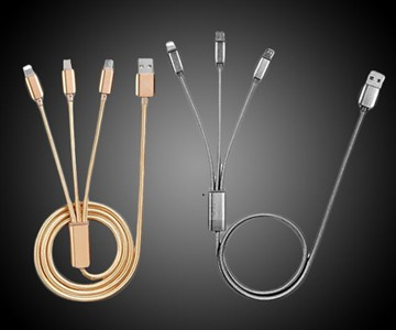 3-in-1 USB-C, Lightning & MicroUSB Cables