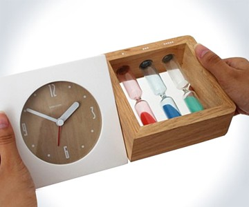 Three Hourglass Alarm Clock