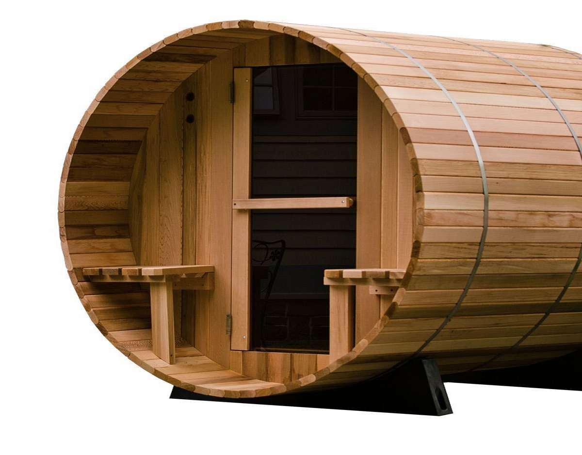2 person canopy barrel sauna. Black Bedroom Furniture Sets. Home Design Ideas