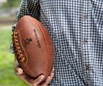 Man Holding Leather Head Handmade Football