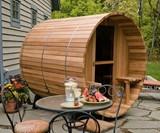 2-Person Canopy Barrel Sauna