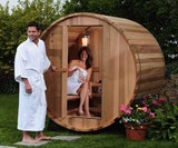 2-Person Canopy Barrel Sauna