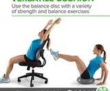 Gaiam Balance Disc - Wobble Cushion for Your Desk Chair