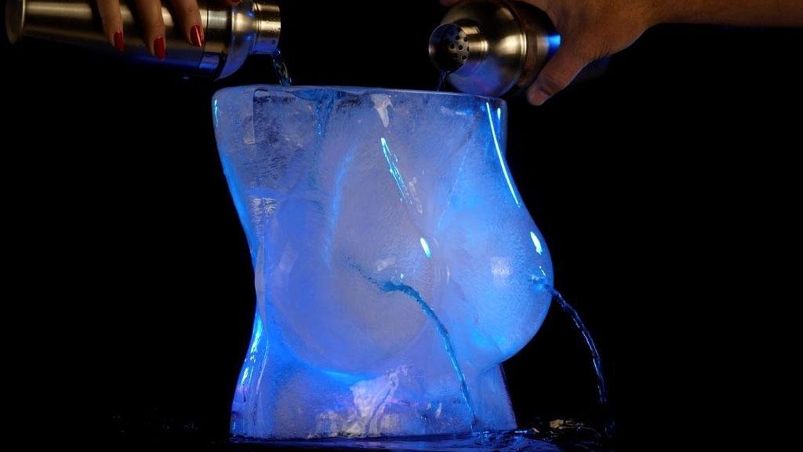 Boobs Ice Luge