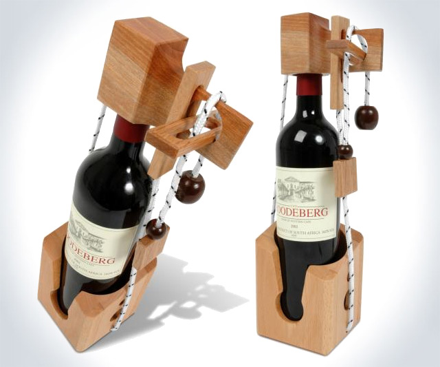 Don't Break the Bottle Wine Puzzle - coolthings.us