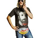 Man in Freedom Flask & Chuck Norris Shirt