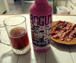 Poured Voodoo Doughnut Bacon Maple Brown Ale with Bacon