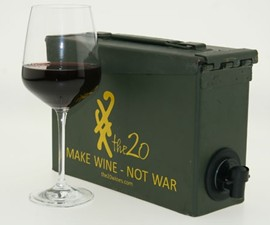 Boxed Wine In Ammunition Case