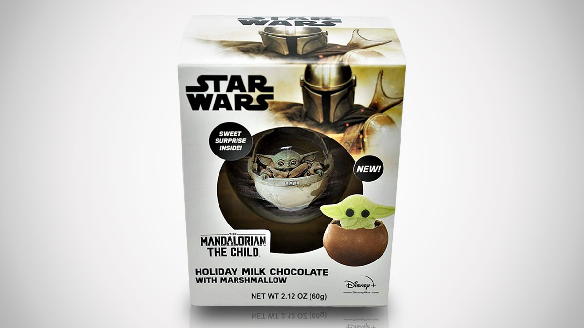 Baby Yoda Marshmallow-Stuffed Chocolate Ball