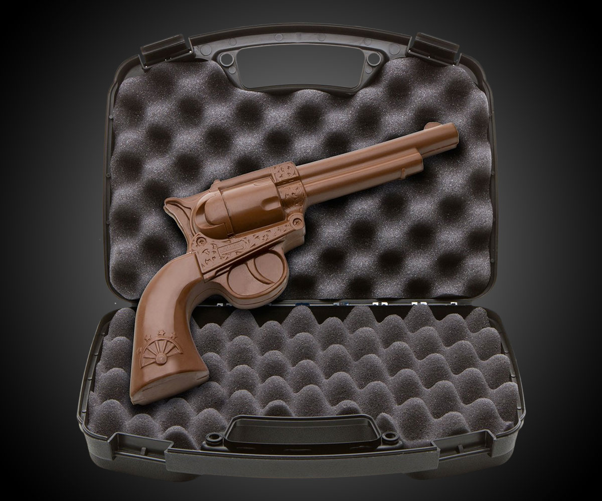 Solid Chocolate Revolver | DudeIWantThat.com
