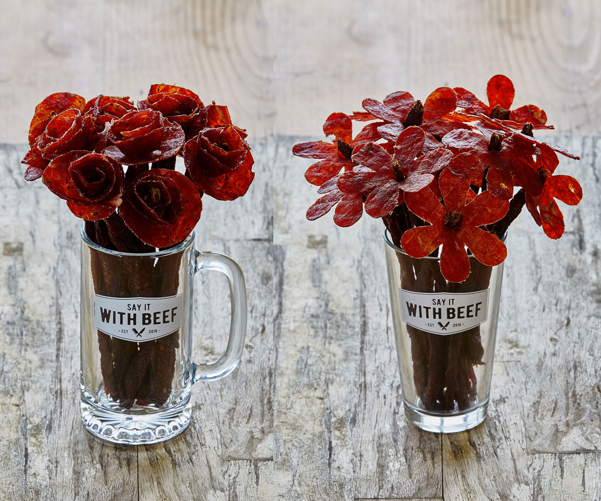 Beef Jerky Flower Bouquets | DudeIWantThat.com