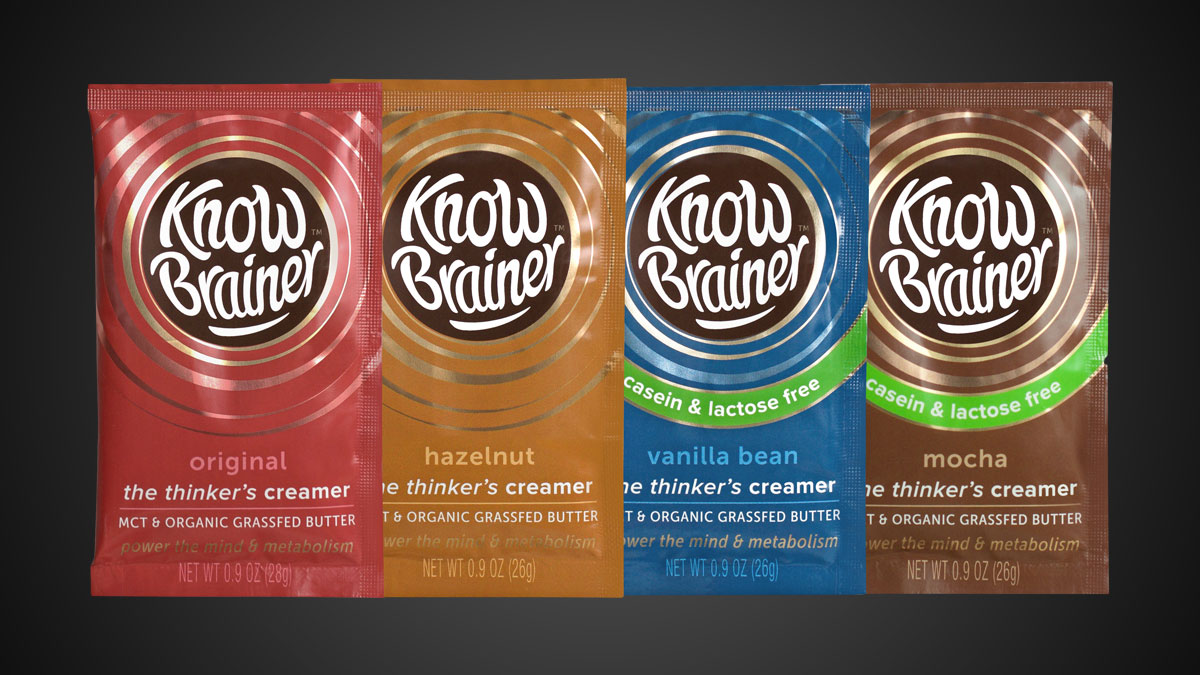 Know Brainer - The Thinker's Coffee Creamer