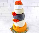 24 Pounds of Cheese Wedding Cake