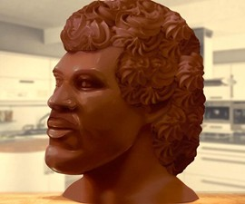 20-Pound Chocolate Lionel Richie Head