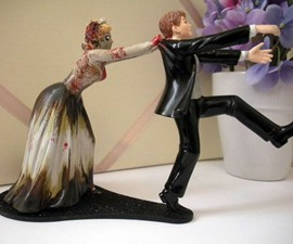 Zombie Wedding Cake Topper