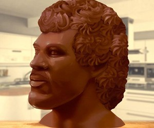 20-Pound Chocolate Lionel Richie Head