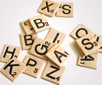 Edible Chocolate Scrabble Letters