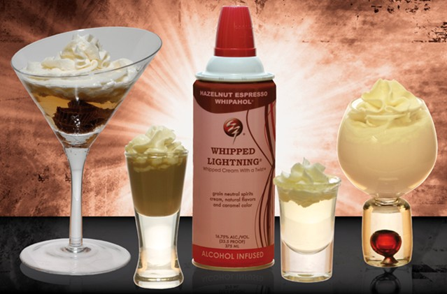 Alcohol-Infused Whipped Cream