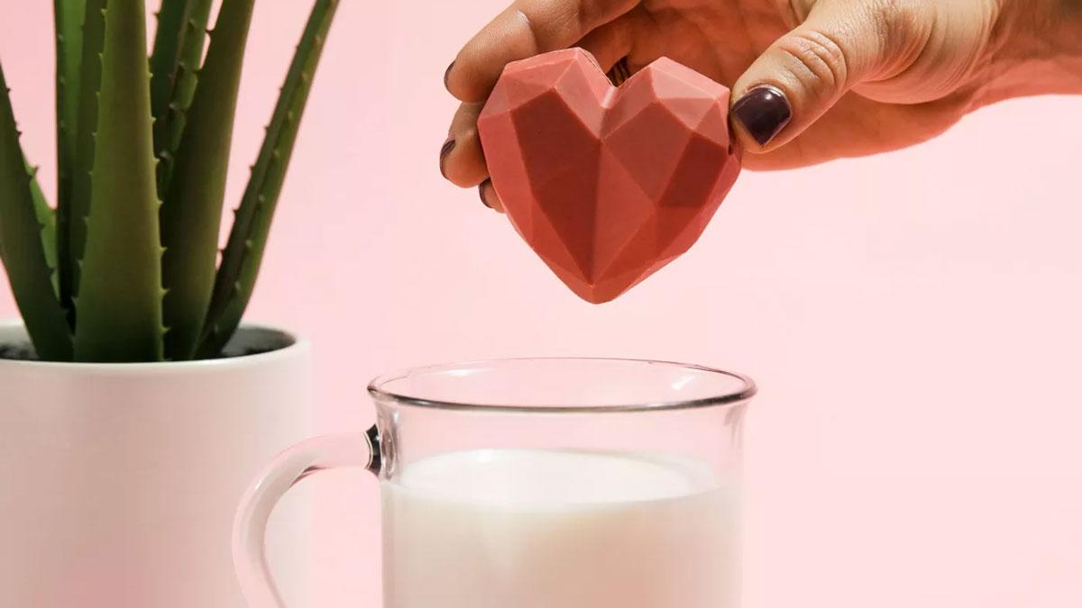 Valentine's Strawberries & Cream Heart Hot Cocoa Bomb