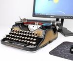 3/4 View of USB Typewriter Computer Keyboard