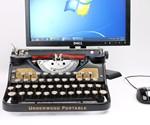 Closeup of USB Typewriter Computer Keyboard