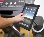 Cup Holder iPad Stand on Treadmill