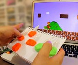 Playing Super Mario Bros. with MaKey MaKey