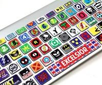 Superhero Keyboard Skins