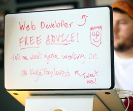 DrawAttention Laptop Lid Whiteboard