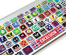 Superhero Keyboard Skins