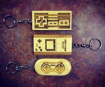 8-bit Flash Drive Keychains