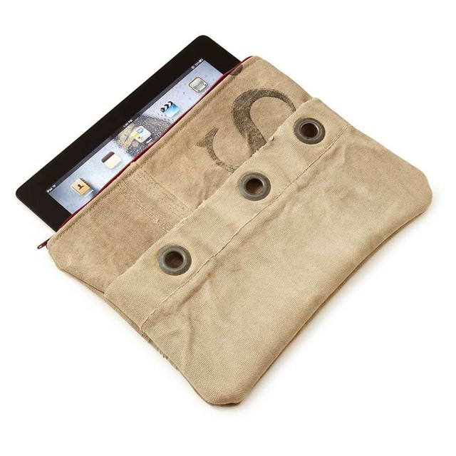 Recycled Mail Sack iPad Case