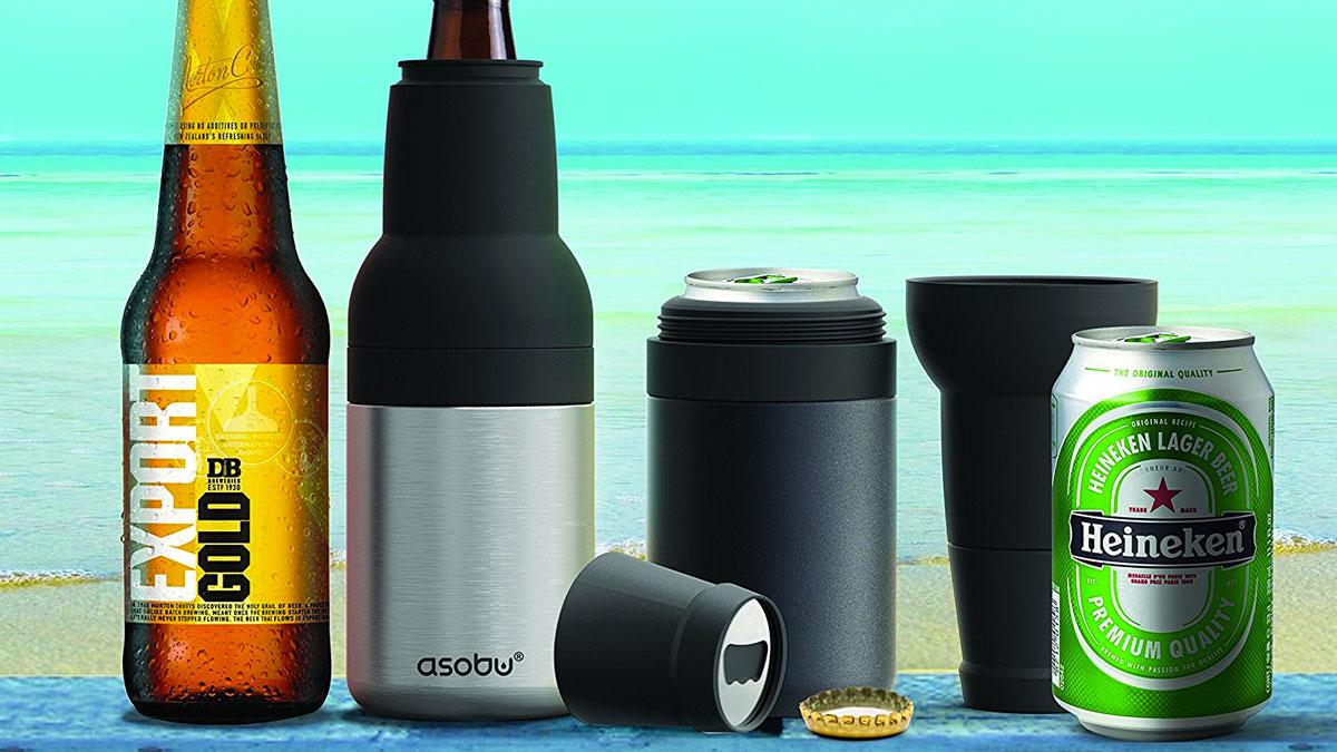 Asobu Frosty Beer 2 Go Bottle & Can Cooler