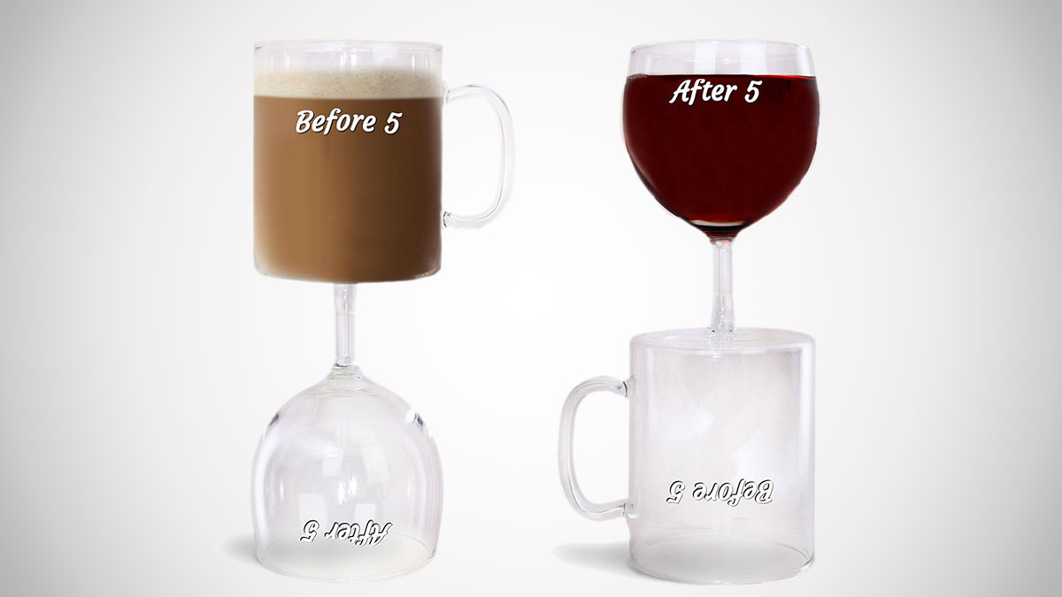 Before & After 5 Coffee & Wine Glass