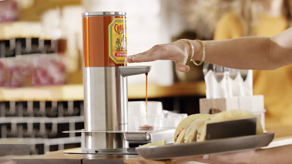 Cholula x simplehuman Touch-Free Hot Sauce Dispenser