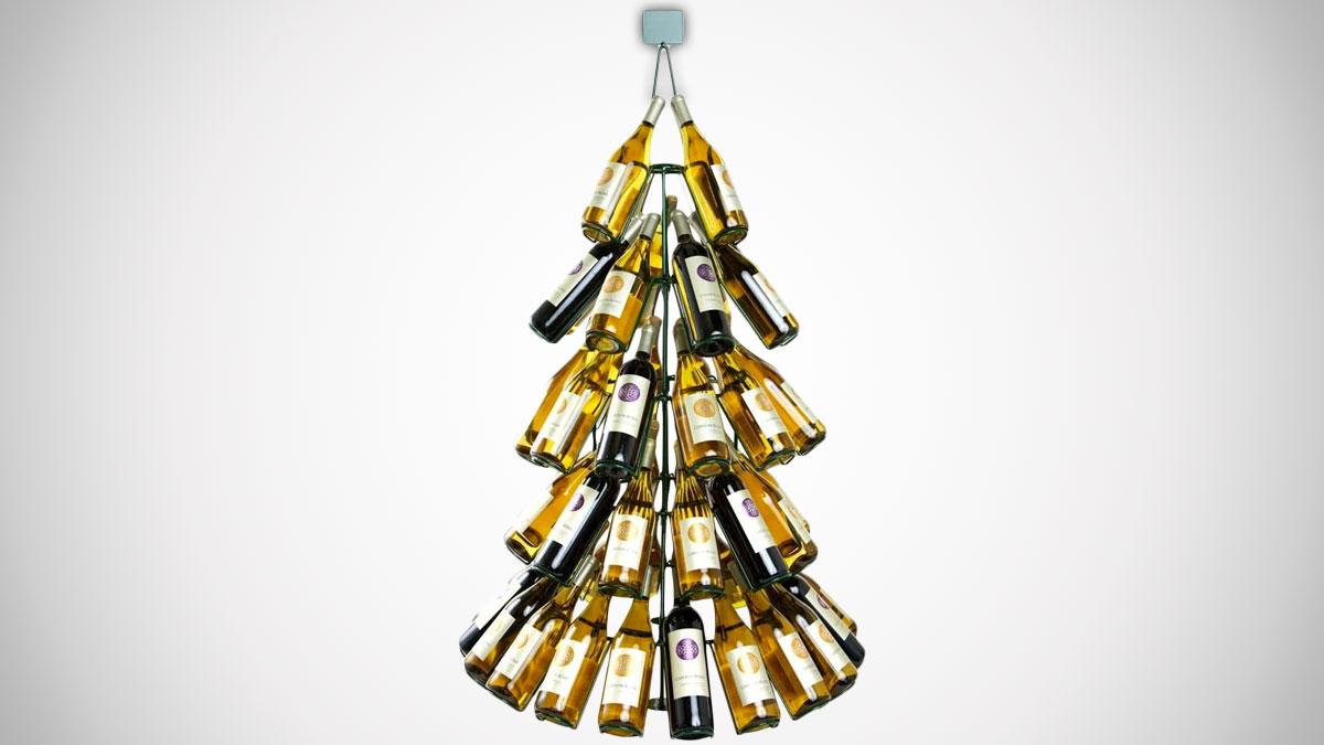 Christmas Tree Wine Bottle Rack