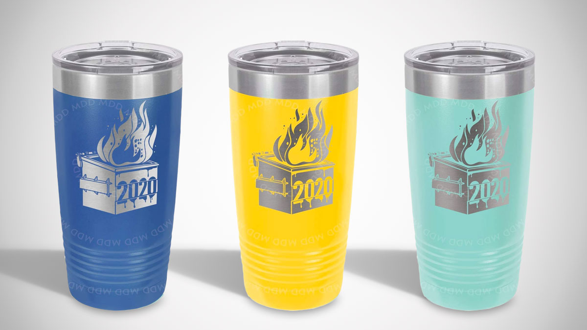Dumpster Fire 2020 Insulated Travel Mug