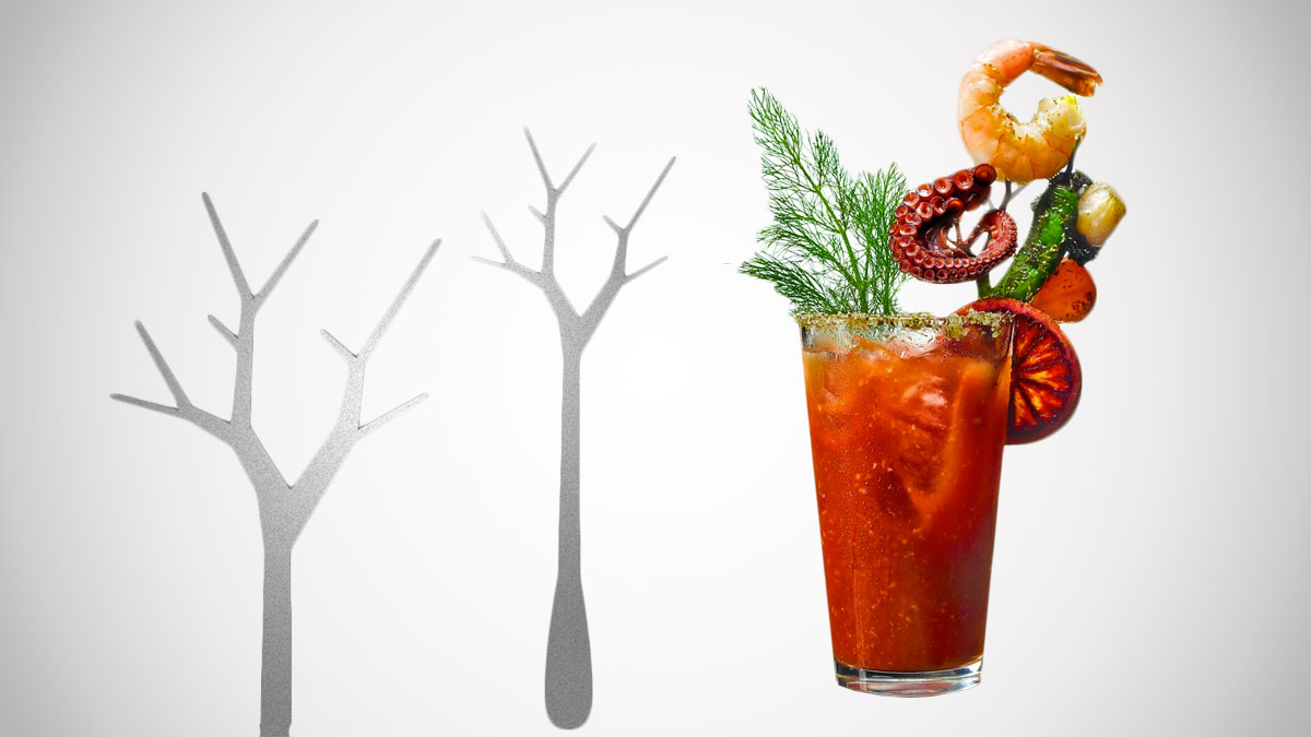 Epic Bloody Mary Tree Branch Garnish Pick