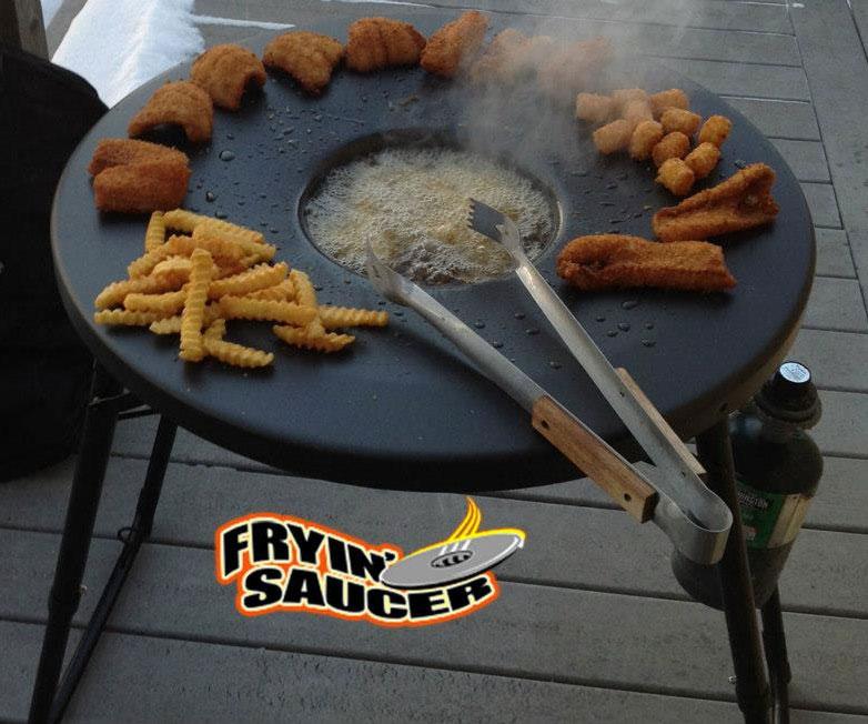Fryin Saucer Portable Propane Deep Fryer Dudeiwantthat Com