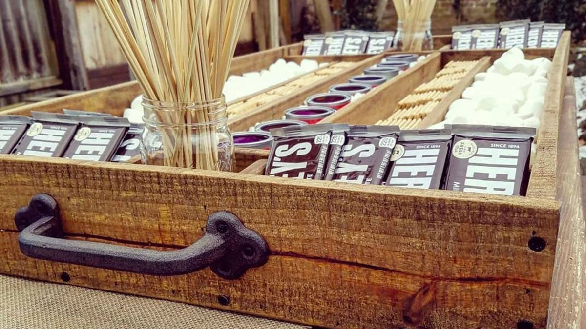 Giant Wood S'mores Station