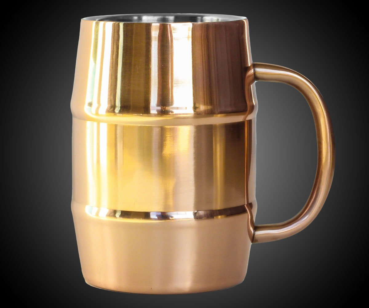 Insulated Copper Beer Mug Dudeiwantthat Com
