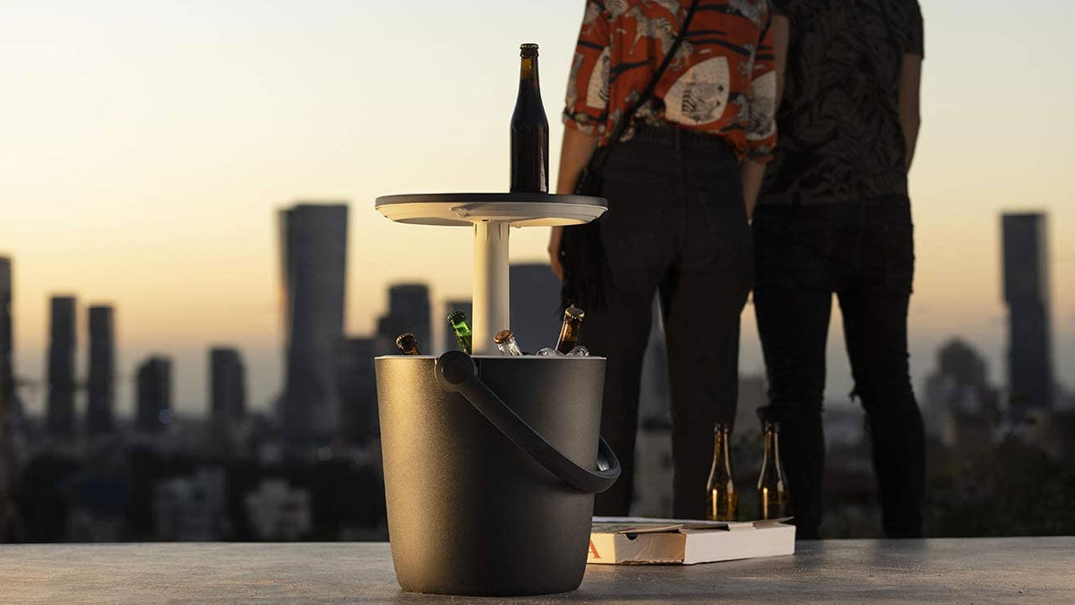 KETER Go Bar - Portable Cooler with Pop-Up Table